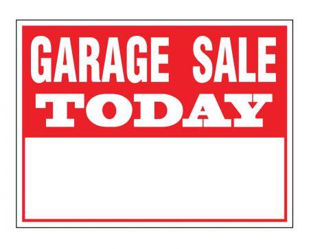 Garage Sale Today sign image
