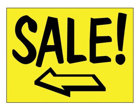 Sale left arrow sign image