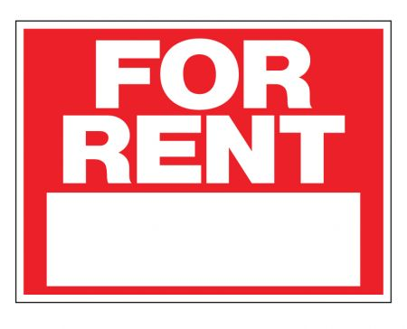 For Rent plastic sign image