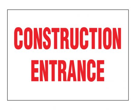 Construction Entrance sign image