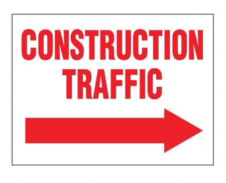 Construction Traffic right arrow sign image