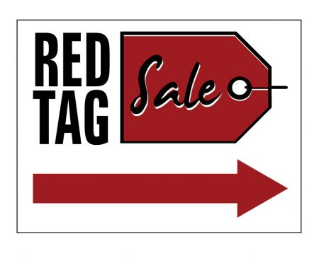 Red Tag Sale Right Arrow yard sign image