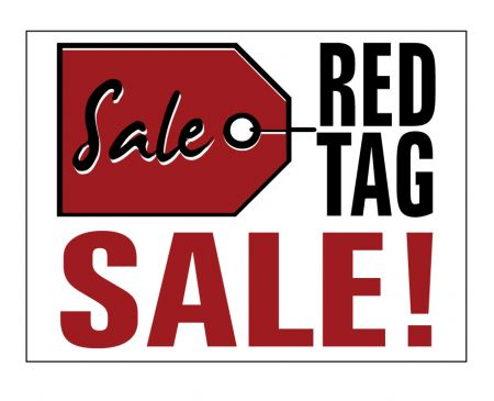 Red Tag Sale yard sign image