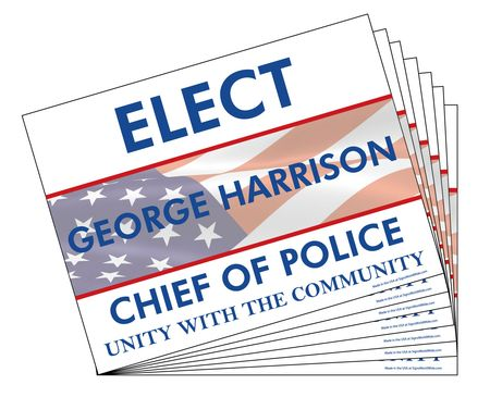One Hundred Elect George Harrison Signs Image