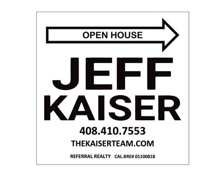 Open House Jeff Kaiser sign image