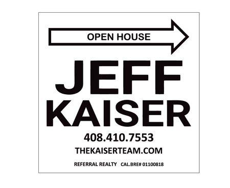 Open House Jeff Kaiser sign image