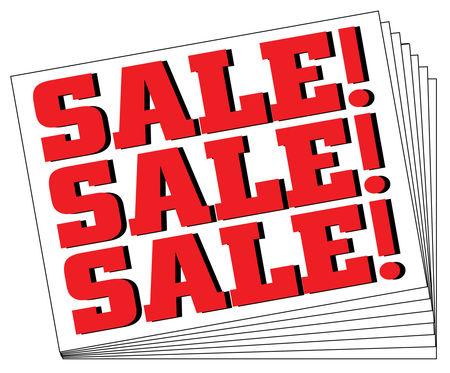 Ten SALE SALE SALE signs image