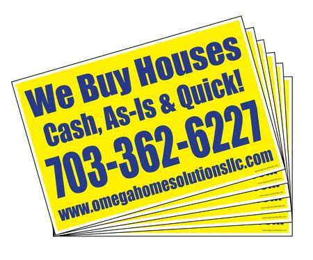 Omega We Buy Houses (500) sign image