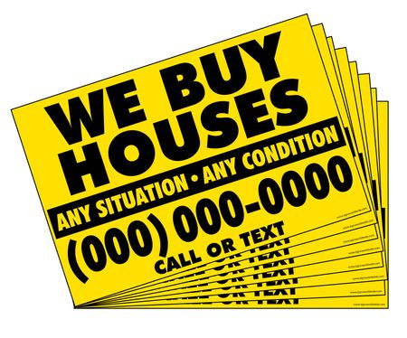 1000 We Buy Houses Y&B Gen sign image