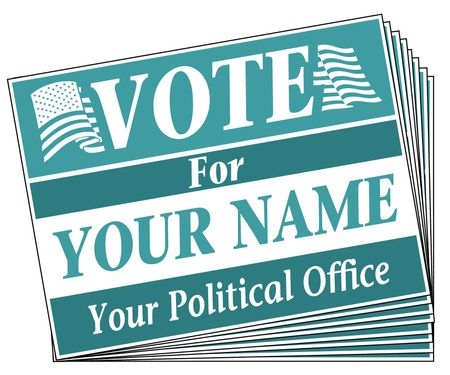 Vote For You teal signs image