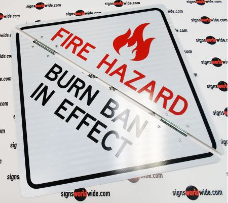 Fire Hazard Folding Reflective Sign Image