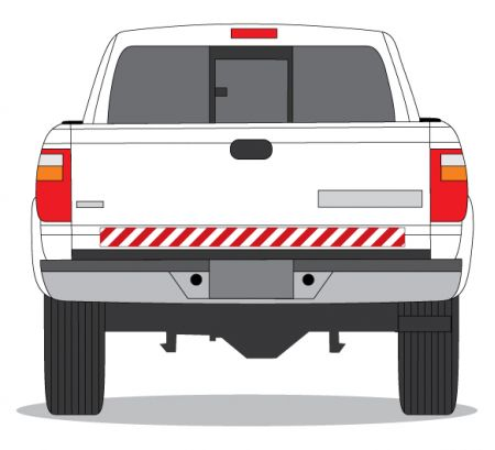 Decal Caution Stripe Red & White image