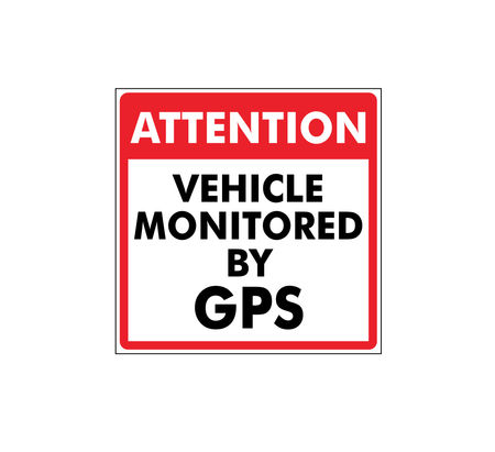 This vehicle monitored by GPS decal image