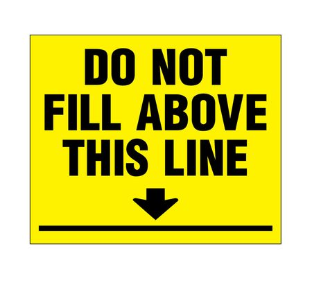 Do Not Fill Above This Line Decal 10x12