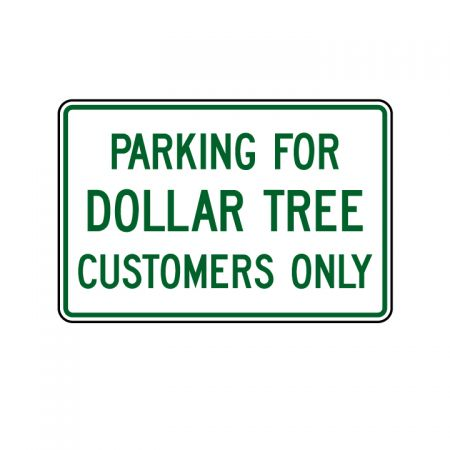 Dollar Tree Parking 12x18 sign image
