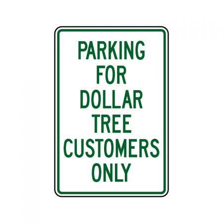 Dollar Tree Parking 18x12 sign image