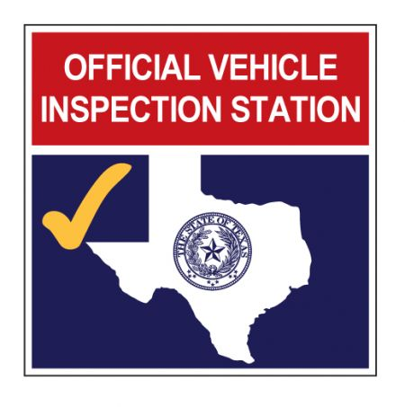 Official Vehicle Inspection Station sign image