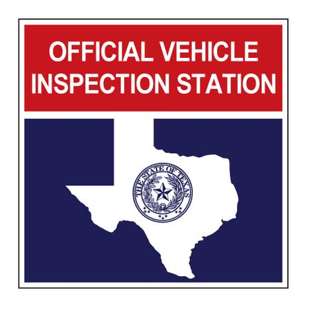 Official Vehicle Inspection Station aluminum v2 sign image