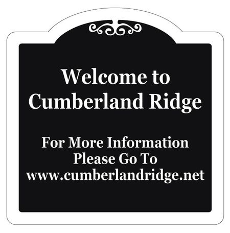 Welcome To Cumberland Ridge Aluminum Sign Image