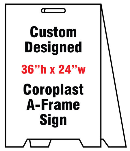 Coro A-frame Custom sign image 2