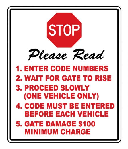 Stop Please Read sign image
