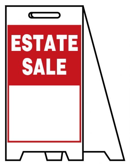 Coro A-frame Estate Sale sign image