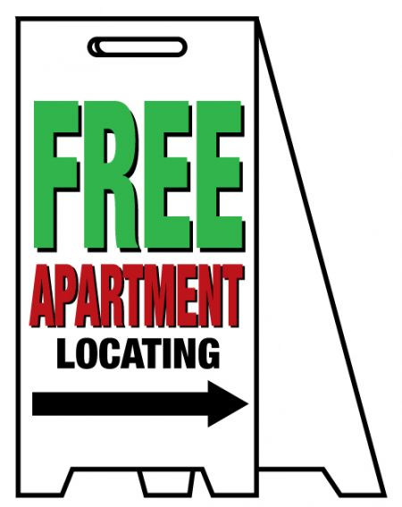 Coro A-frame Free Apartment sign image