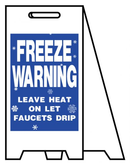Coro A-frame Freeze Warning sign image