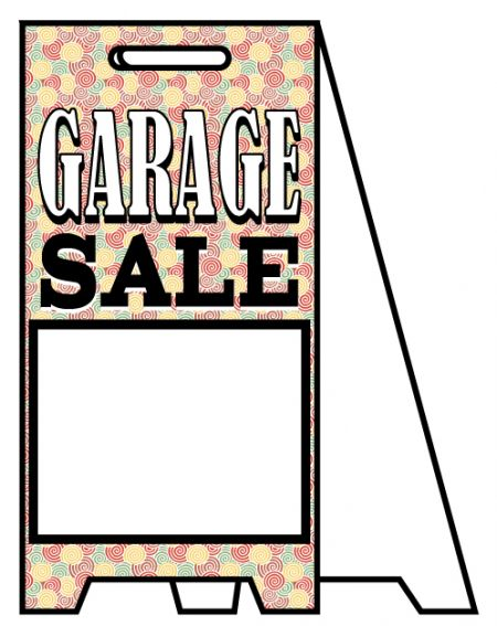 Coro A-frame Garage Sale 2 sign image