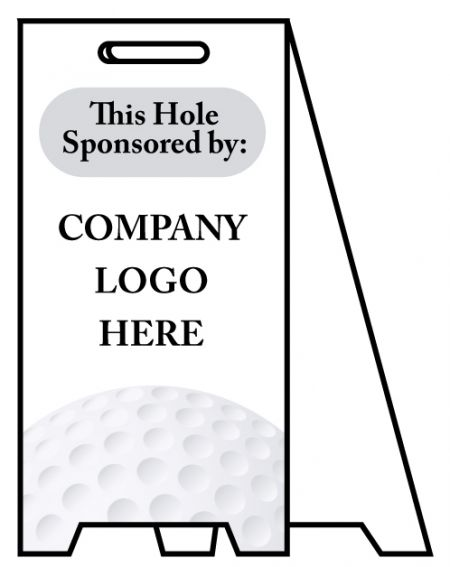 Coro A-frame Hole Sponsor sign image
