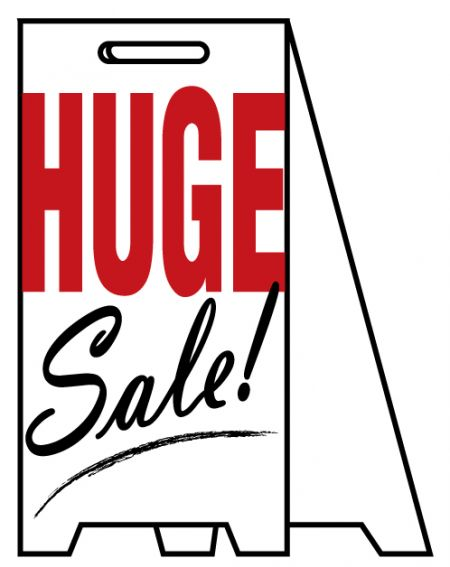Coro A-frame HUGE Sale sign image