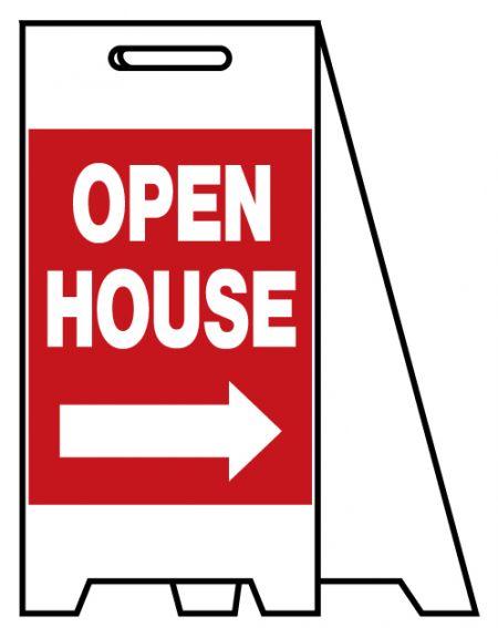 Coro A-frame Open House sign image