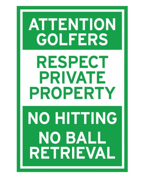 Attention Golfers Coro sign image