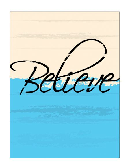 Believe Canvas print image
