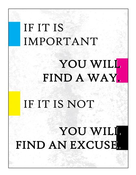 If It Is Important Poster print image