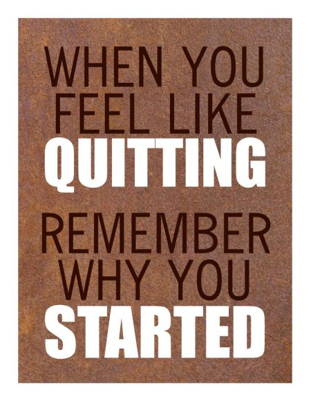Feel Like Quitting print image