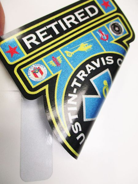 Retired Austin Travis County EMS Second Surface Refl Decal Image 2