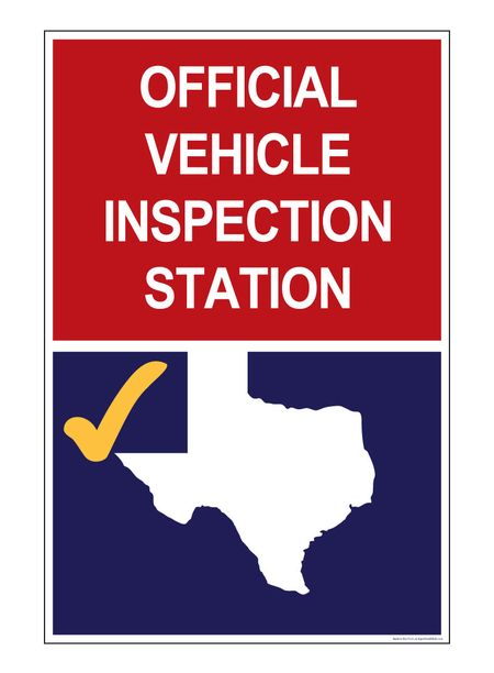 Official Vehicle Inspection 36 x 23 sign image