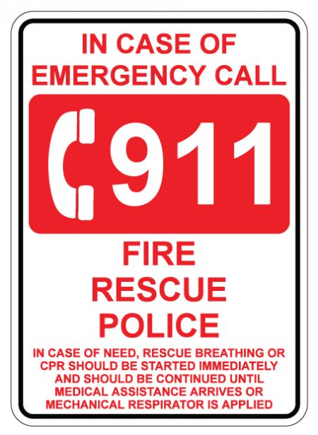 911 sign image