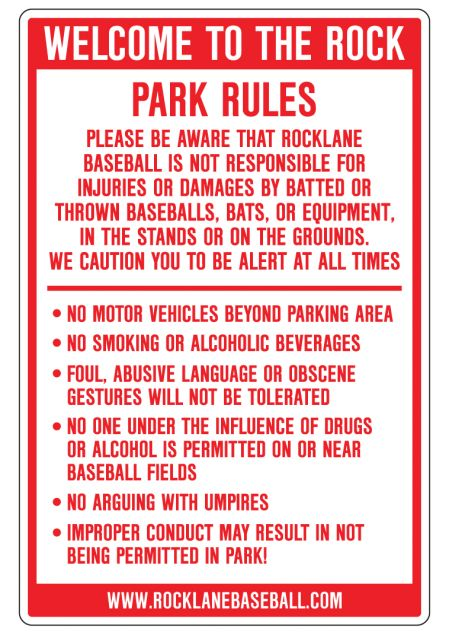Rocklane Park sign image