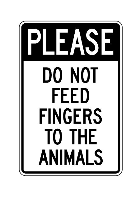 Please Do Not Feed Animals sign image