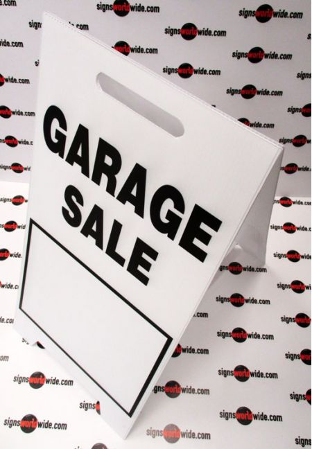 Garage Sale A-frame sign image