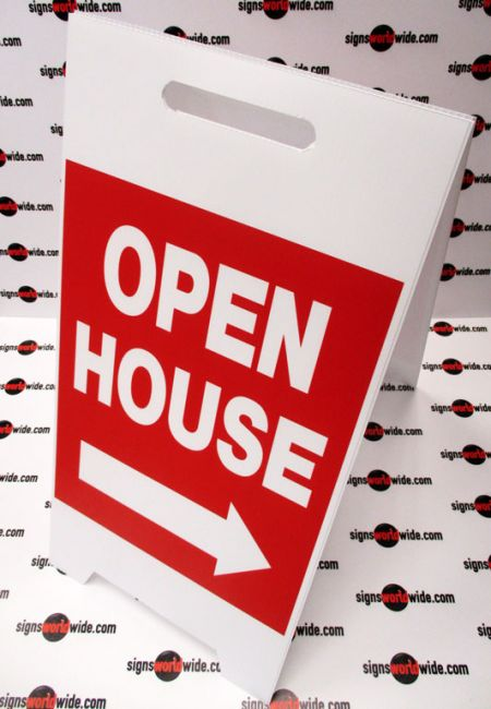 Open House A-frame sign image