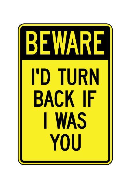 Beware Animals and Children sign image