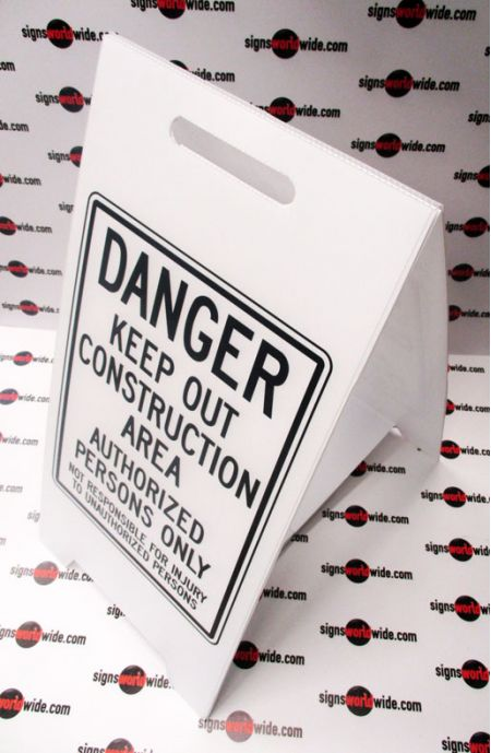 Danger Keep out of Construction Area A-frame sign image