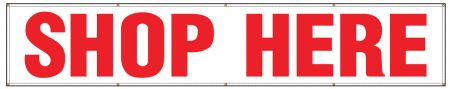 Shop Here 3'x16' banner image