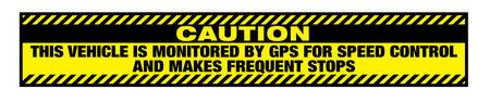 Caution Frequent Stops 6x36 decal image v2