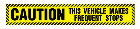 Caution Frequent Stops 6x36 decal image