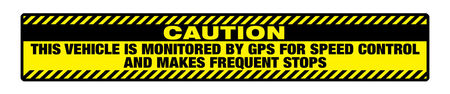 Caution Frequent Stops 6x36 v2 Magnetic Image