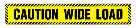 Caution Wide Load 6x36 Magnetic Image